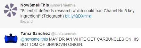 Dr Ian White pissed off Tania Sanchez, co-Author of Perfumes The Guide
